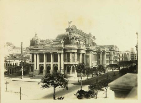 ARM.17.3.8(3) - Iconografia - Teatro Municipal : [Praca?] Mal Floriano - [S.l.: s.n.], [1911-1920?].